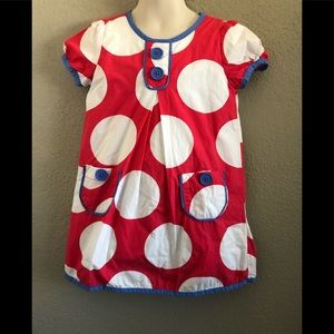 Other - Mini boden pink white and blue dress. Size 3/4